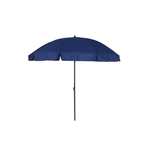 greemotion 127163 Ombrellone Tondo Parasole Spiaggia da Giardino, Blu, 240x240x238 cm 2 spesavip