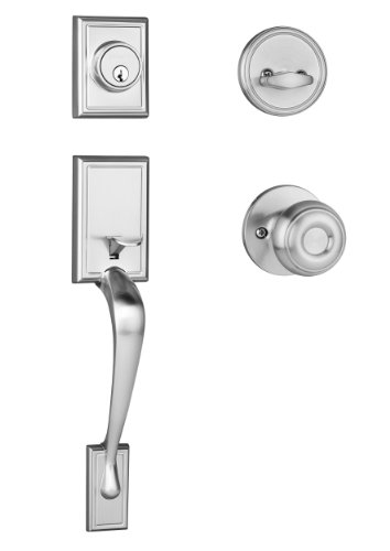 Dynasty Hardware RID-SIE-100-US15 Ridgecrest Front Door Handleset, Satin Nickel with Sierra Knob ()