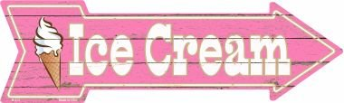 Smart Blonde Ice Cream Novelty Metal Arrow Sign A-275
