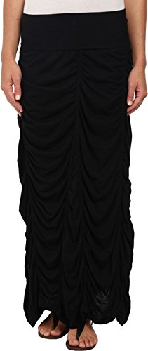 XCVI Women's Jersey Peasant Skirt Black -