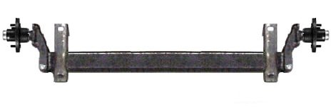 3,500 lb. Flexiride Torsion Axle (60' Frame Width, 73' Hub Face)
