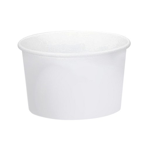 SOLO VS508-2050 VS Single-Sided Poly Paper Food Container, 8 oz. Capacity, White (Case of 1,000) by Solo Foodservice