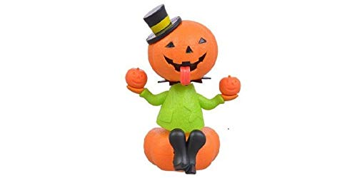 (Solar Powered Dancing Halloween Pumpkin with Green)