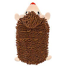 - TOP PAW Brown Hedgehog Plush Squeaker Mat Dog Toy ~X-Large~