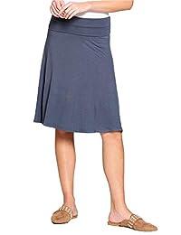 Popana Womens Casual Knee Length A-Line Stretch Midi Skirt Plus Size Made in USA