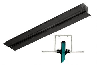 Black Anodized Pocket Snap-In Channel - 120'' by C.R. Laurence