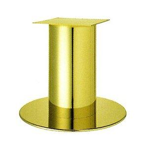 e-kanamono テーブル脚 ソフトS7570 ベース570φ パイプ101.6φ 受座240x240 ゴールドメッキ AJ付 高さ700mmまで B012CCAY6S