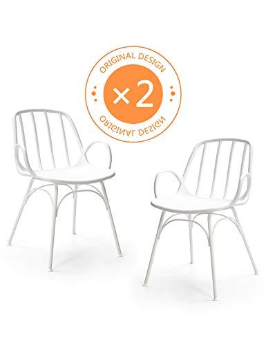 A Polypropylene Chaises Suhu Exterieur Chaise 2 Moderne Bistrot En Plastique Jardin Manger Scandinave Lot Salle Tulipe De Design wP8n0OkX