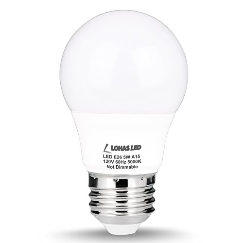 LOHAS LED 6W A15/A19/G25 E26 Daylight /Soft White Warm White LED Light Bulbs,Brightest 40/60 Watt Light Bulbs Replacement