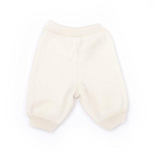 LANACARE Organic Wool Toddler/Baby Pants, Natural White, size 50 (0-3 mo) by LANACare