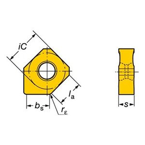Sandvik Coromant 345l-1305m-pm4240Coromill 345Insert pour fraisage (lot de 10) 69826253870