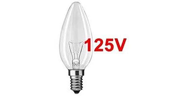 Bombilla vela 15w 125v E14 caja 10 unidades: Amazon.es: Bricolaje y herramientas