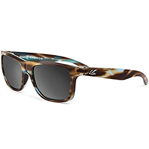 Kaenon Mens Clarke Polarized Sunglasses, Abalone/Grey 12 Black Mirror