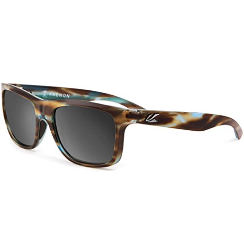 Kaenon Polarized Clarke Sunglasses - Abalone Frames - Gray G-12 Black Mirror Lens