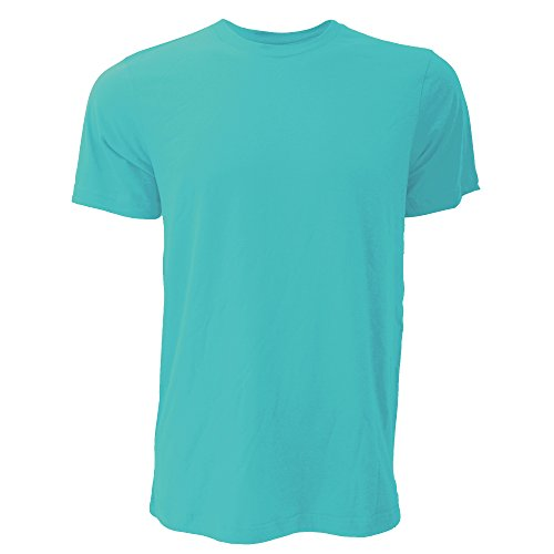 Canvas Unisex Jersey Crew Neck Short Sleeve T-Shirt (S) (Heather Sea Green)