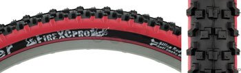 Panaracer Fire XC Pro Bicycle Tire (Wire Bead, 26x2.1, Black/Red)
