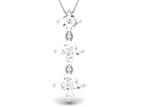 Or Blanc 18 ct Pendentifs Diamant , 0.08 Ct Diamant, GH-SI, 1.5 grammes.