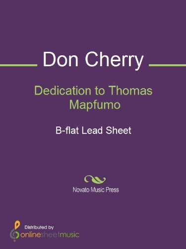 (Dedication to Thomas Mapfumo - B-flat Lead Sheet )