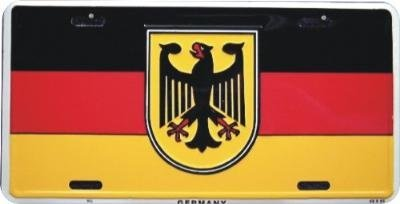 Germany Flag Bundesadler Federal Eagle Front Novelty License Plate 6x12