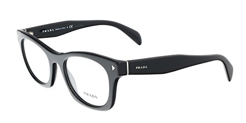 Prada PR11SV Eyeglasses-1AB/1O1 Black- 51mm by Prada