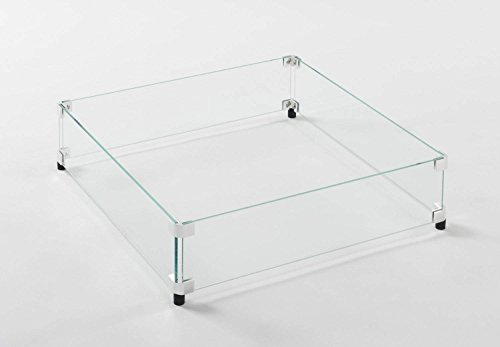 Fire Pit Glass Guard Size: 5.88'' H x 22.5'' W x 22.5'' D by The Outdoor GreatRoom Company