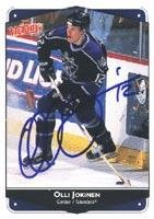 Olli Jokinen Los Angeles Kings 1999 Victory Autographed Card. This item comes with a certificate of authenticity from Autograph-Sports. -