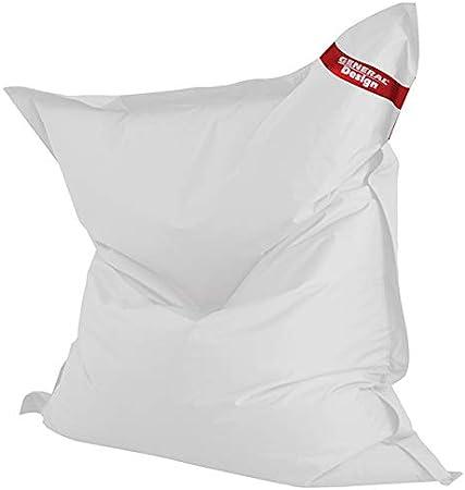 General Design Big Design Pouf Waterproof, Blanc:
