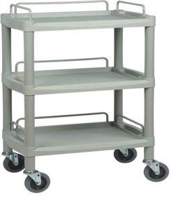 Three Shelf Durable ABS Utility Trolley JPM