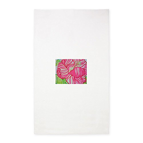CafePress Hibiscus in Lilly Pulitzer 3'X5' Decorative Area Rug, Fabric Throw Rug