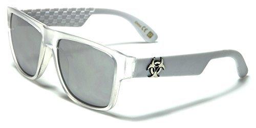 1c8f25b6bb BIOHAZARD Diseño Hombre Mujer Translúcido Color Espejo Gafas de sol  COMPLETO UV400 Protección GRATIS Vibrante Cabaña Bolsa INCLUIDO ...