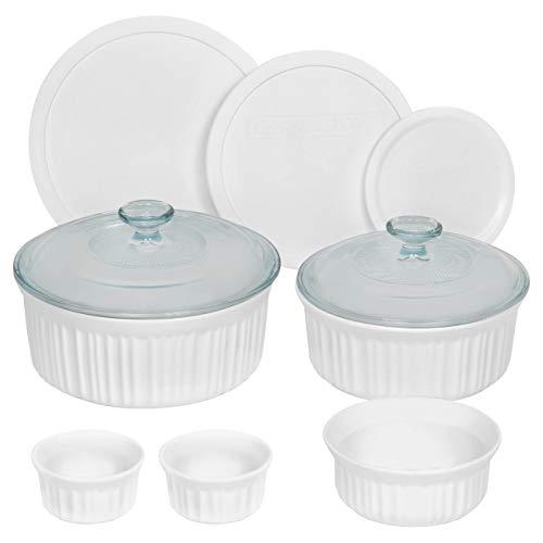 CorningWare 10-Piece Set French White Ceramic Bakeware from CorningWare