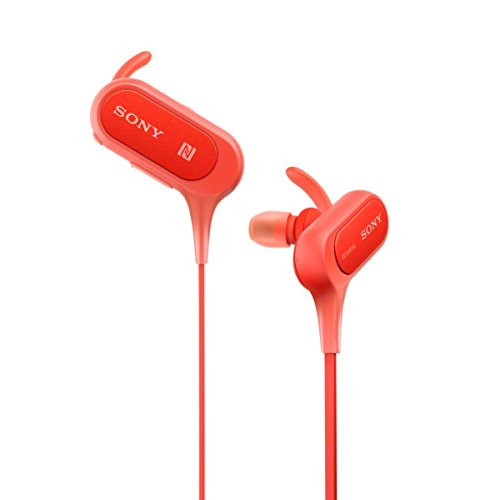 Large Product Image of Sony Extra Bass Bluetooth Headphones, Best Wireless Sports Earbuds with Mic/ Microphone, IPX4 Splashproof Stereo Comfort Gym Running Workout up to 8.5 hour battery, red