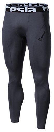 TM-P33-DGZ_Large J-ALX Tesla Men's Thermal Wintergear Compression Baselayer Pants Leggings Tights P33