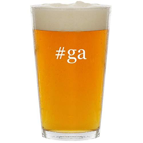 #ga – Glass Hashtag 16oz Beer Pint