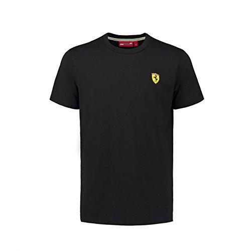 Ferrari Mens Black Classic Crew Neck T-Shirt
