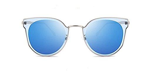 soleil rond cercle style lunettes en retro de Bleu Lennon vintage Glacier polarisées inspirées du métallique Cpxn5q