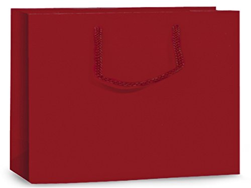 (Pack Of 10, Solid Red Matte Vogue Gift Bags 16 X 6 X 12