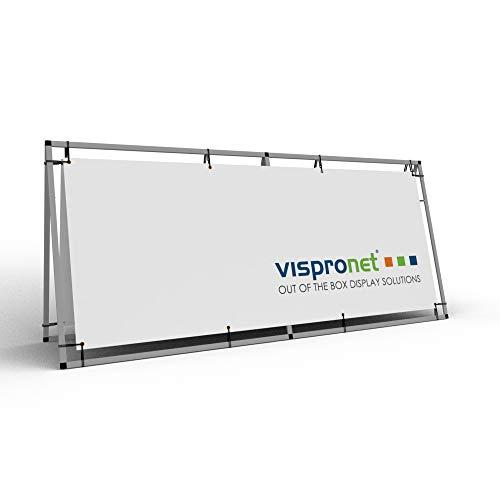 Vispronet - 3ft x 7ft Outdoor Horizontal Banner A-Frame - Sideline Banner Frames