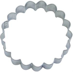 Fluted Round Tin Cookie Cutter 3.5