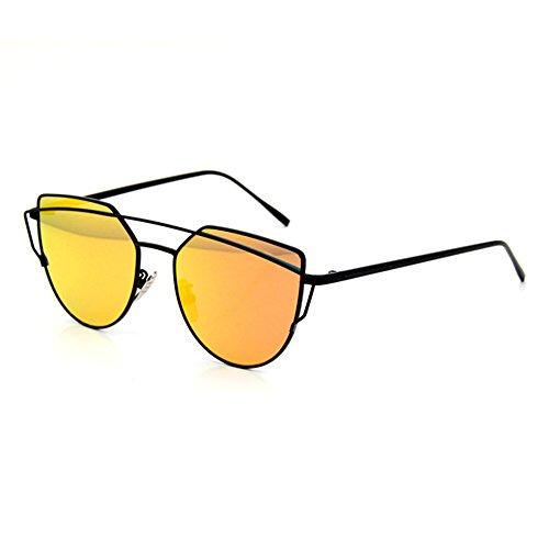 Smileyes Lunettes de soleil Femme et Homme Polygone en vogue cool TSGL009  Orange ... 23cc194fb44b