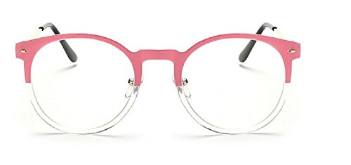 Objectif Embryform Fashion Fun Unisexe Effacer Nerd Geek Glasses Glasses Rose
