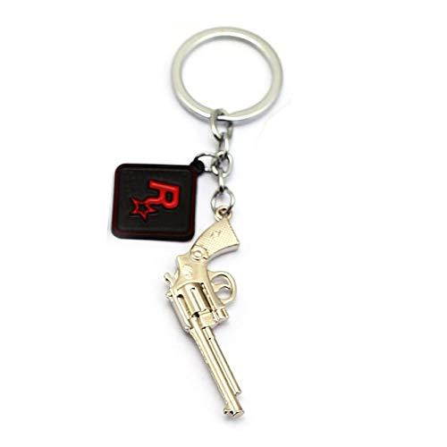Value-Smart-Toys - Game Red Dead Redemption 2 Keychain Key Ring 3D Gun Key Chain 8 Models Men Car Women Bag Jewelry Chaveiro llaveros 7.0x3.0cm (Red Dead Redemption Best Rifle)