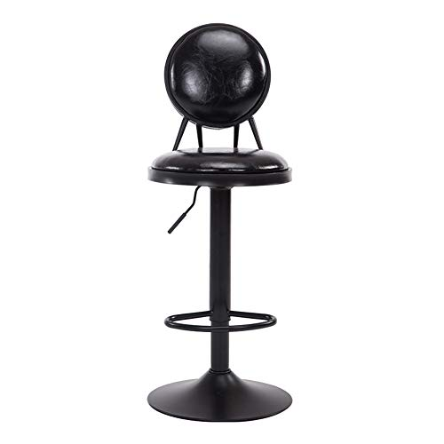 MMZZ Retro Style Bar Stool, High Stool/Kitchen Chair/Breakfast Chair/Seat, Adjustable Swivel Gas Lift Large Base,for Pub/Bar Counter/Cafe/Household