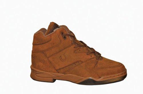 - ROPER Mens Horseshoe Athletic Tan Chipmunk Pig Suede Riding Comfort Boots 7.5 W