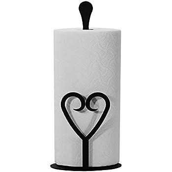 Amazon Com Wrought Iron Paper Towel Holder Heart Upright