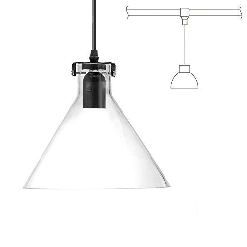 Kiven H-Type 3 Wire Glass Track Light Pendants Length 39.37 Restaurant Chandelier Decorative Chandelier Instant Pendant Light Bulb not Include Industrial Factory Pendant Lamp (TB0265-B) by Kiven (Image #1)