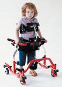"Skillbuilders pediatric anterior gait trainer, small,21.5"" wide"