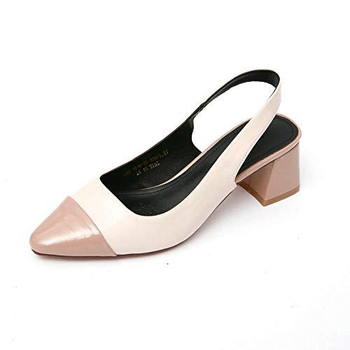YMFIE Style européen pointé Couleur Mode Correspondant à la Mode Couleur Confortable Chaussures Simples Dames Dos Sandales de Travail Chaussures Talons Hauts 34 EU|C 215097