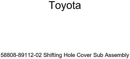 Toyota Genuine 58808-89112-02 Shifting Hole Cover Sub Assembly