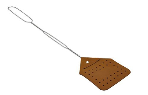 Amish Leather Fly Swatter - Brown by Hope Woodworking